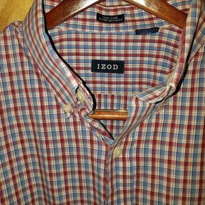 Izod button down long sleeve XL cotton shirt 🐊